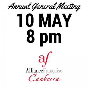 AGM May 10 ~ 8pm